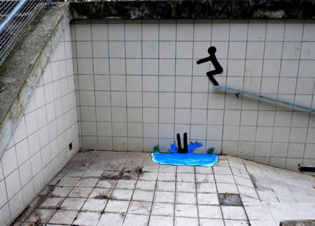 Creatively Placed Street Art