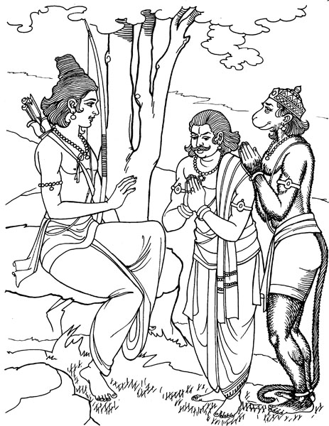 samudra manthan coloring pages - photo#17
