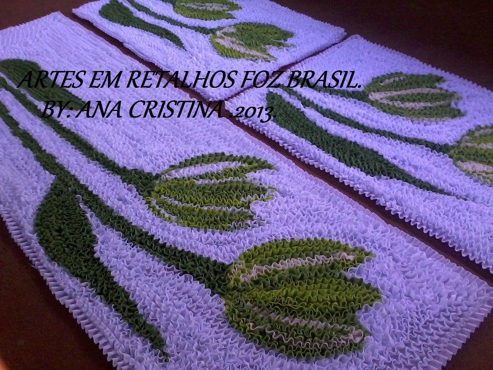 Arte Em Tapete De Retalho : EM RETALHOS FOZ BRASIL: Jogos de cozinha em frufru . by: Artes em