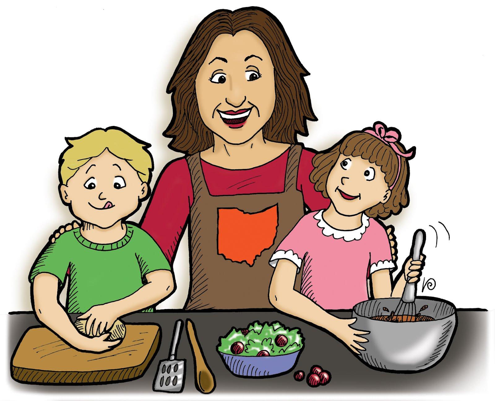Gambar Kartun Anak Membantu Orang Tua