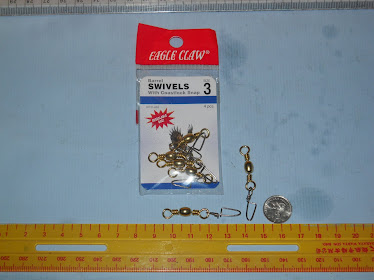 EAGLE CLAW Swivels Barrel Coastlock Snap/Crane Interlock Snap RM3.50/paket RM35/1 box (12 paket)