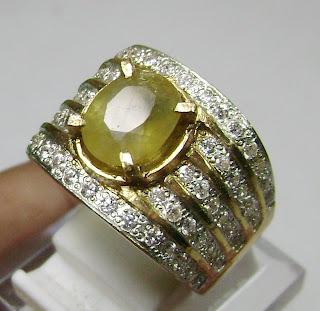 Cincin Batu Permata Yellow Sapphire