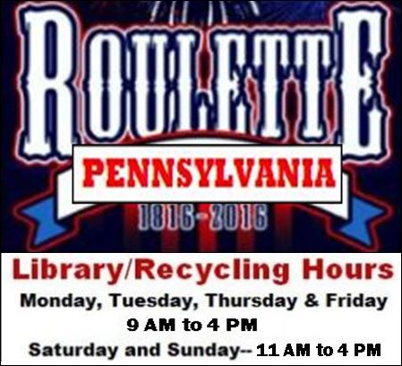 Winter hours for Library/Recycle
