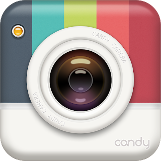 Candy cam available for android iOS popular app for taking selfies