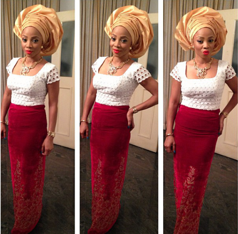 Toke makinwa at sharon's wedding