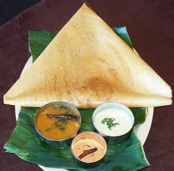 Plain Dosa indian platter: MASALA...