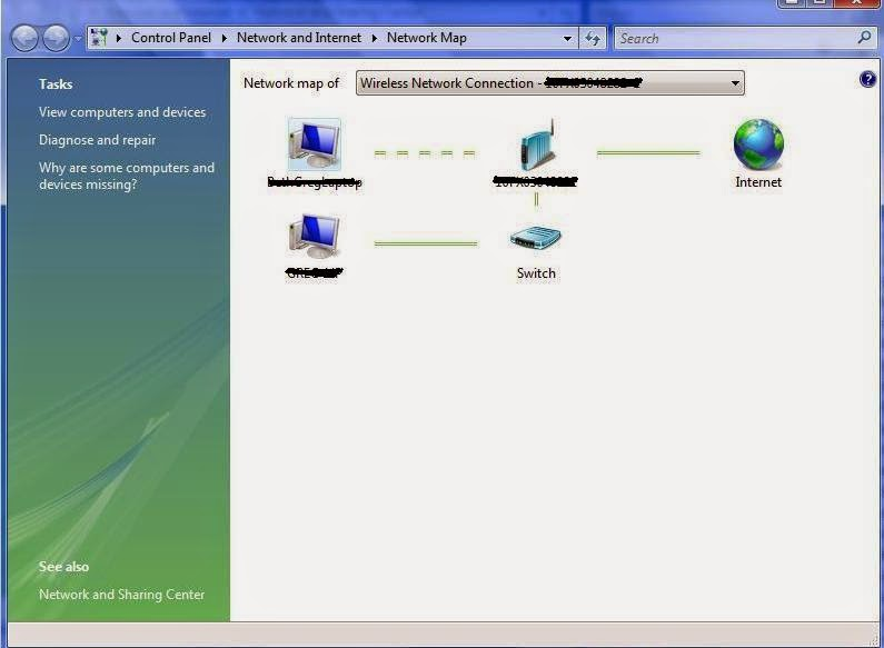 Tech In Check How To View The Network Map In Windows Vista - Network map page