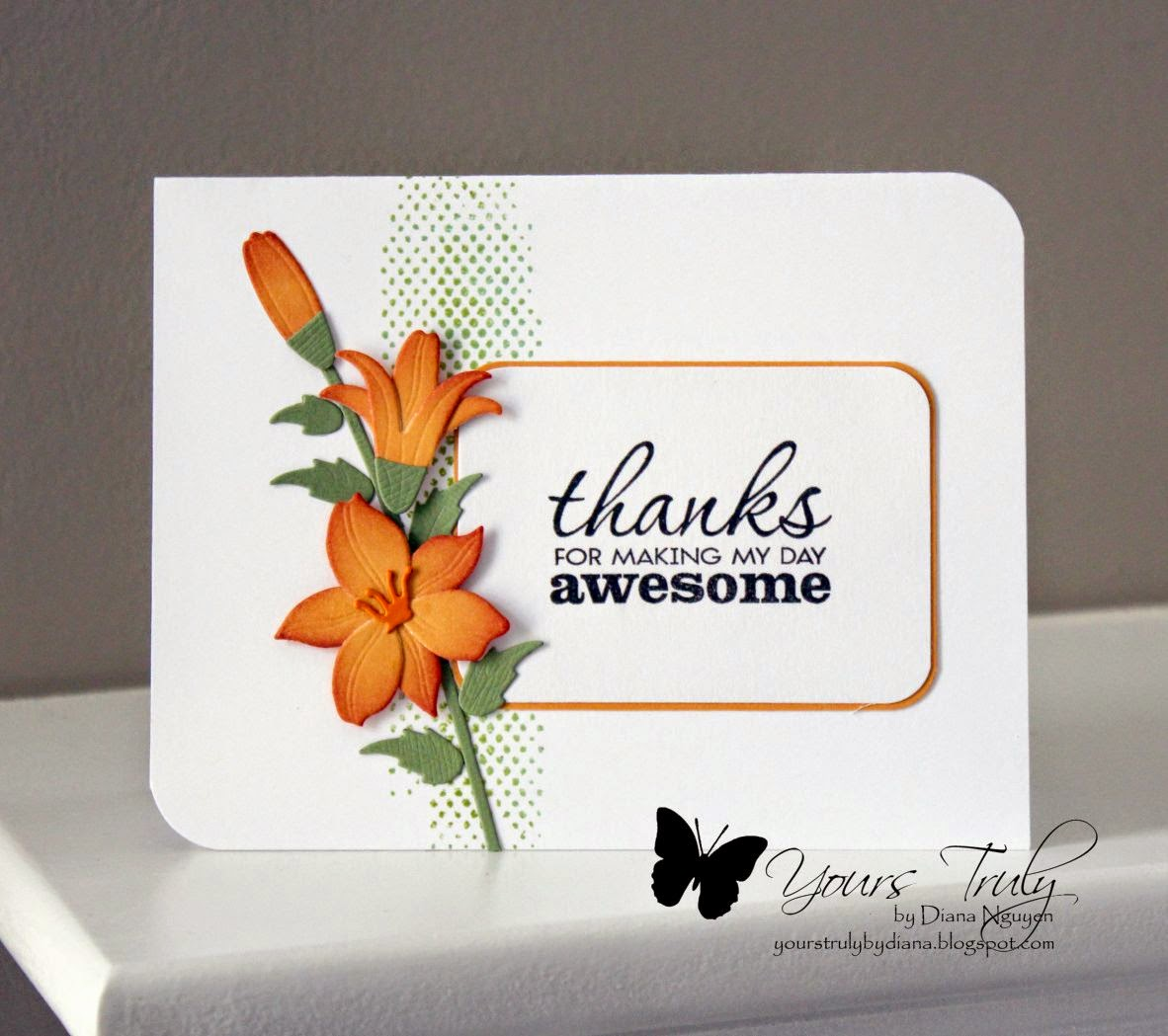 Diana Nguyen, My Favorite Things, Lily, Verve, better together, thank you card