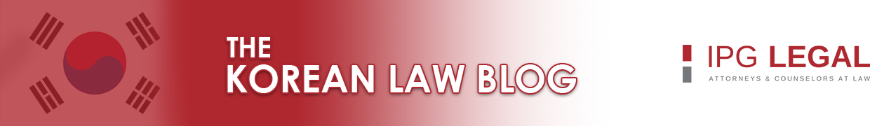 The Korean Law Blog | IPG Legal Int'l Law Firm