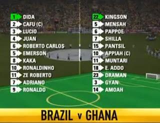 Brazil vs Ghana, 2006