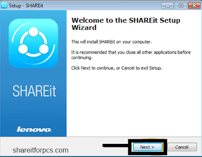 installation of shareit for pc