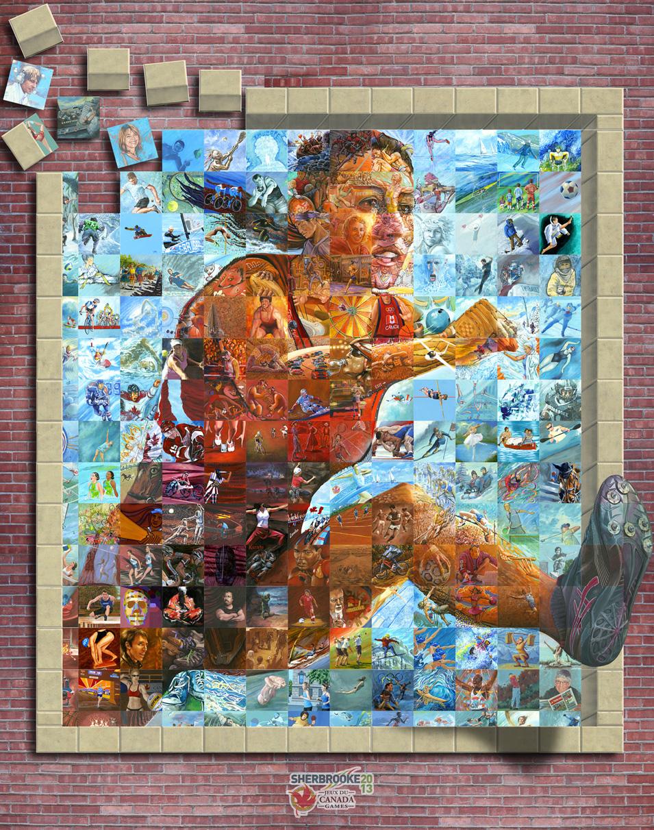 Memory roth artist painting memories mural mosaic for Mural mosaic