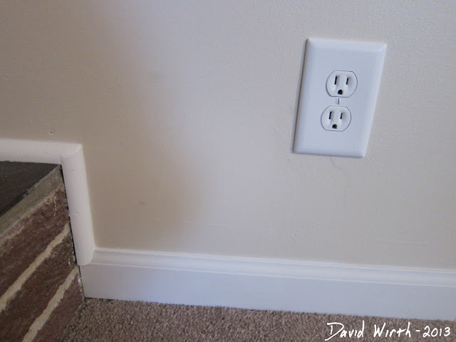 flip house, new trim and electric outlets