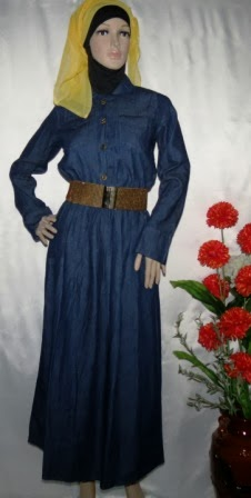 Gamis Jeans Gaul Murah Gj1049 Grosir Baju Muslim Murah