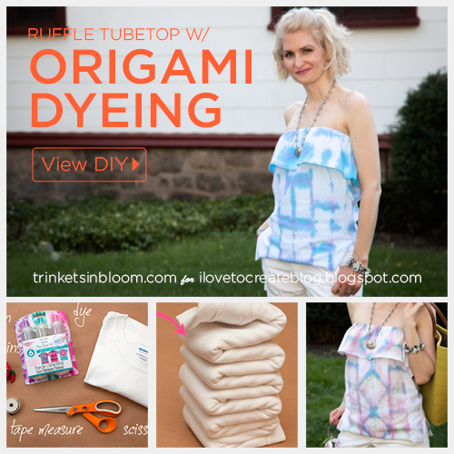 Origami Dyed Ruffle Tube Top Diy Ilovetocreate