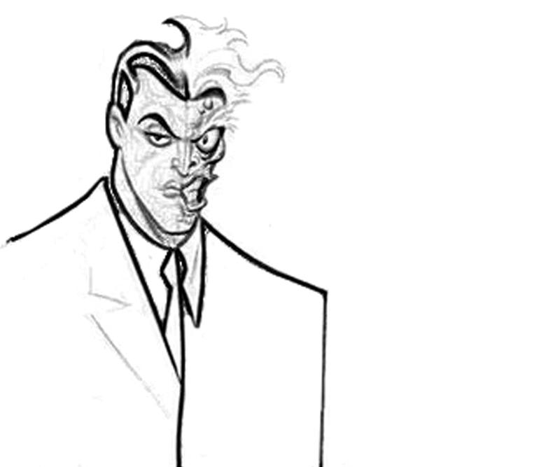 printable-batman-arkham -city-two-face-character_coloring-pages