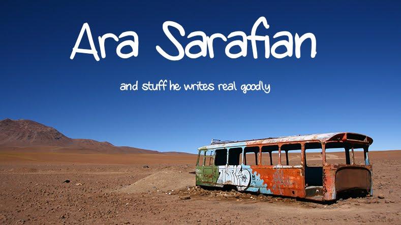 Ara Sarafian writer
