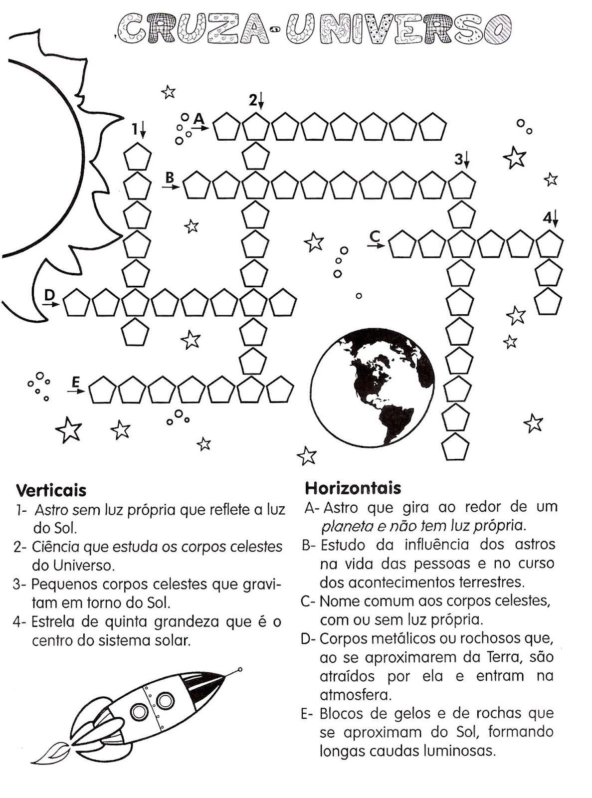 Muito Atividades sistema solar - Atividades Pedagógicas SJ25
