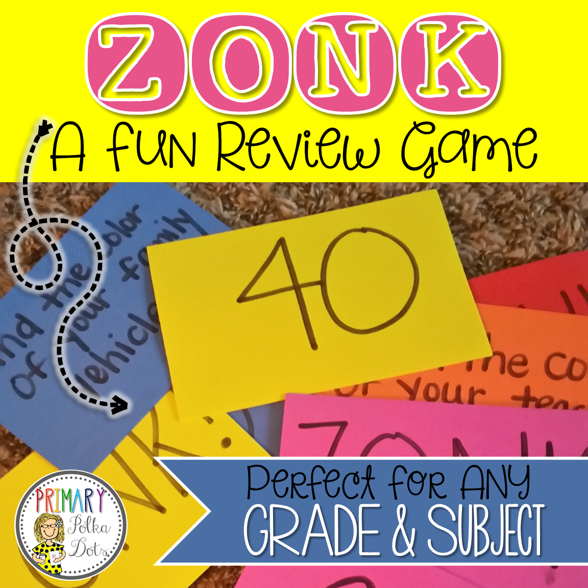 Primary Polka Dots: ZONK! {A Fun Review Game}