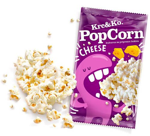 design de embalagem - food packaging design - Krc&Ko Popcorn