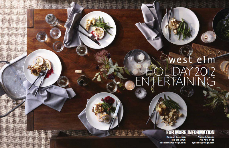 West Elm Holiday Entertaining table