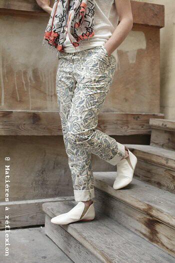 Pantalon imprimé Karine Jean