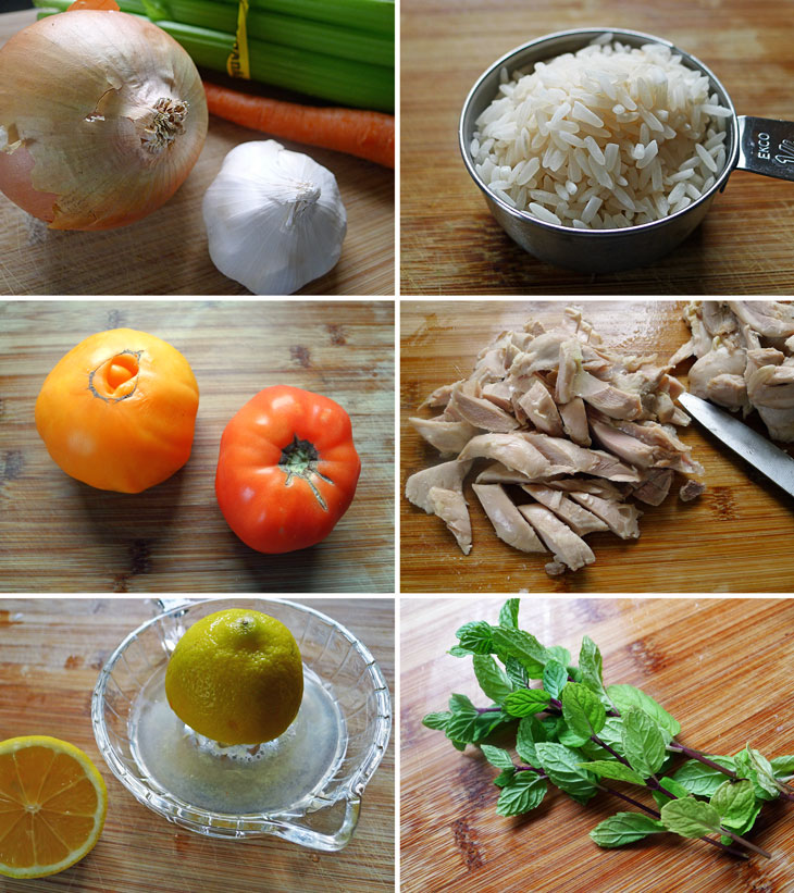 Cooking Weekends: Chicken Soup with Mint and Lemon