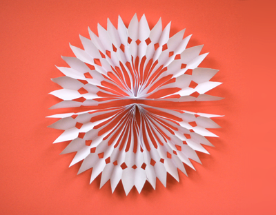Diy paper snowflake decorations how about orange for Diy paper snowflakes 3d