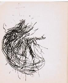 Alberto Ghinzani│ il disegno finale per La stimmung con Marcelin Pleynet di V.S. Gaudio