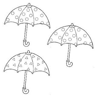 Risco para pintura de guarda-chuvas