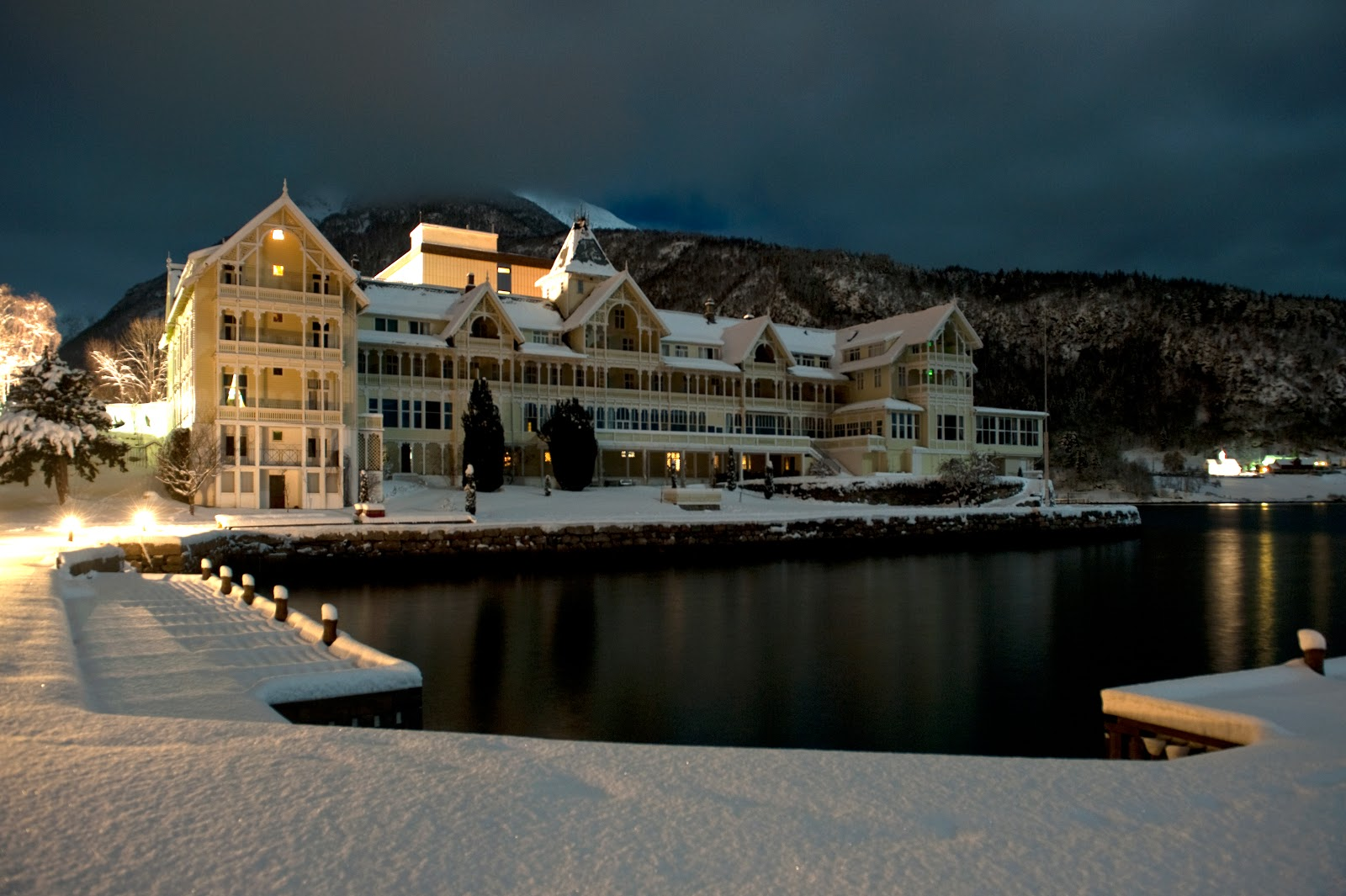 Christmas at the Kviknes Hotel in Balestrand, Norway. Photo: Courtesy of Kviknes Hotel.