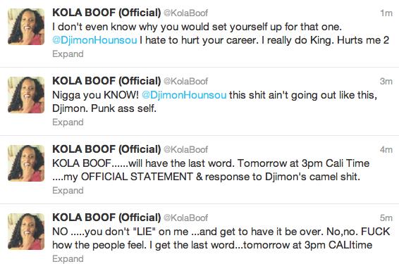 Kola Boof Lion he Does Not Know Kola Boof