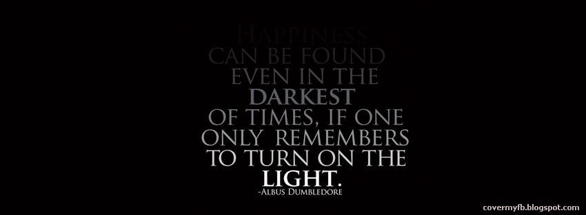 Facebook Cover Of Albus Dumbledore Quote.