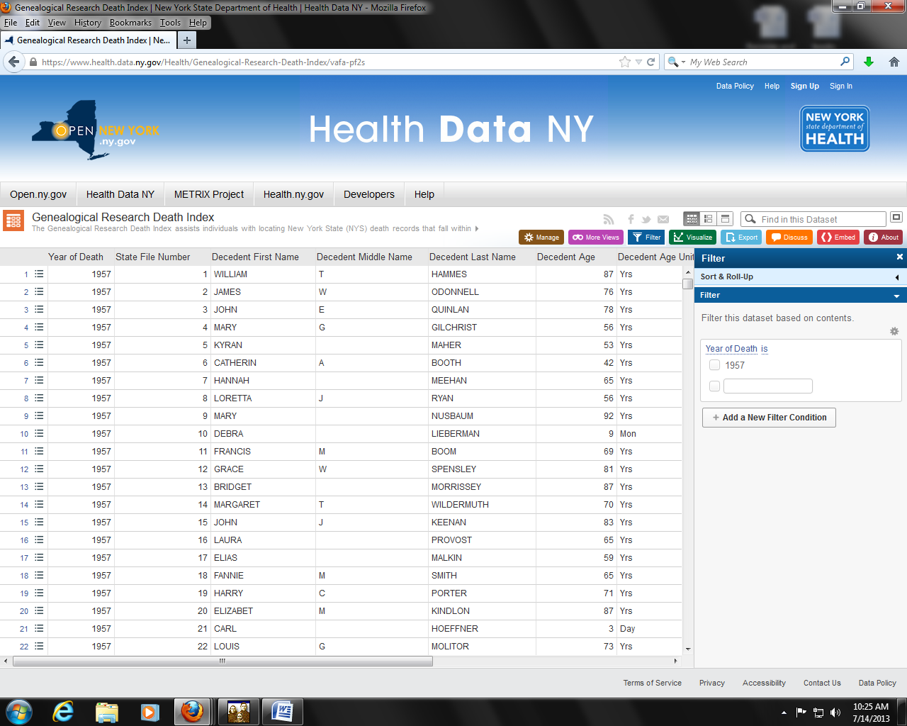 Ellies ancestors the ny doh redeems itself there is talk of a partnership with ancestry that would see the vital records index in its entirety birth marriage and death indexes posted to their aiddatafo Images