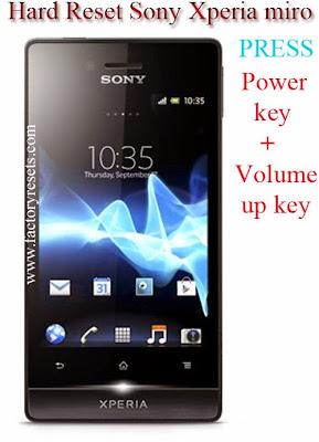 Hard Reset Sony Xperia miro (Sony ST23i,Sony ST23a)