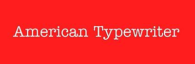 American typewriter notepedia