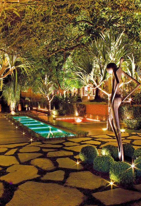 luminária anao de jardim