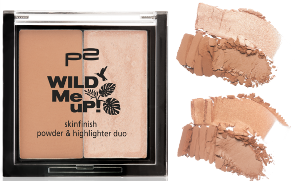 p2 wild me up SKINFINISH powder & highlighter duo