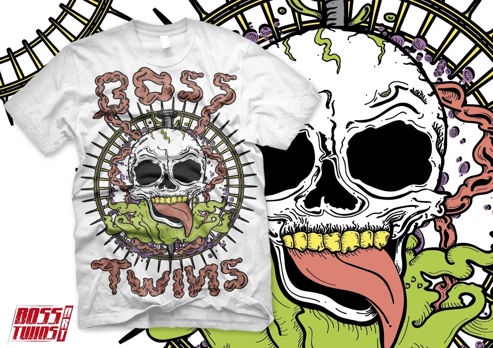 Boss Twins Art: Diseño en venta: Calavera Tentaculos
