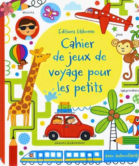 Cahier de jeux de voyage pour les petits - éditions Usborne