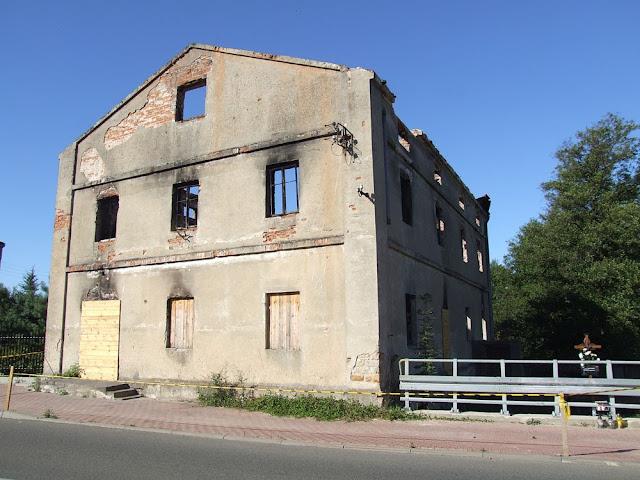 Młyn Bulion, stan 2013 r. - po pożarze. Foto. Jacek Lombarski.