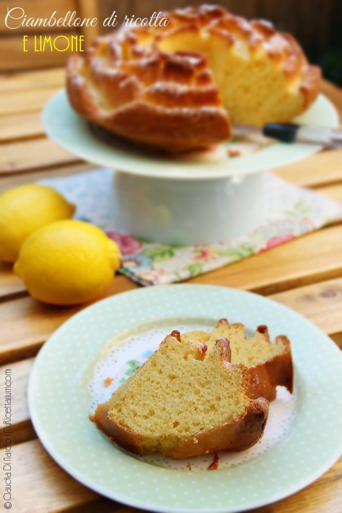 Ciambellone di ricotta e limone