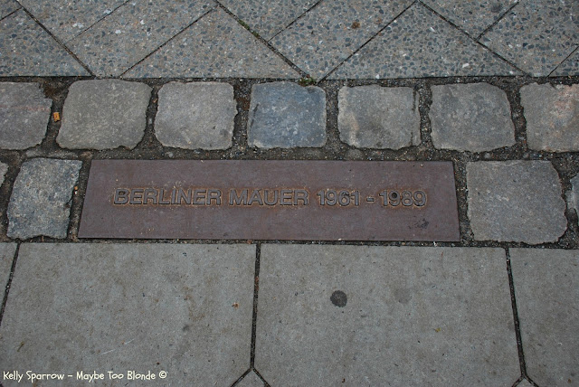 Bernauer Strasse, Berlin Wall Memorial, Marker for Berlin Wall, East Germany