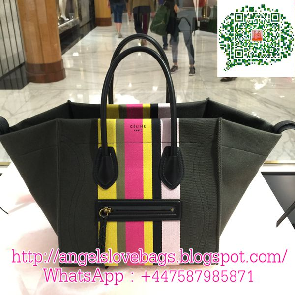 celine luggage tote stripe