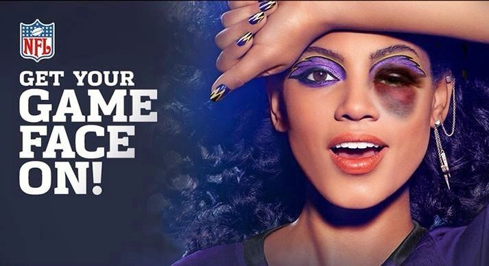 Photoshopped Covergirl NFL ad