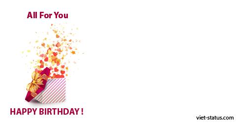Status chúc mừng sinh nhật - mẫu 13