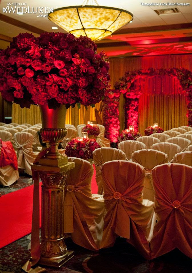 sonal j shah event consultants llc red and gold decor ideas. Black Bedroom Furniture Sets. Home Design Ideas