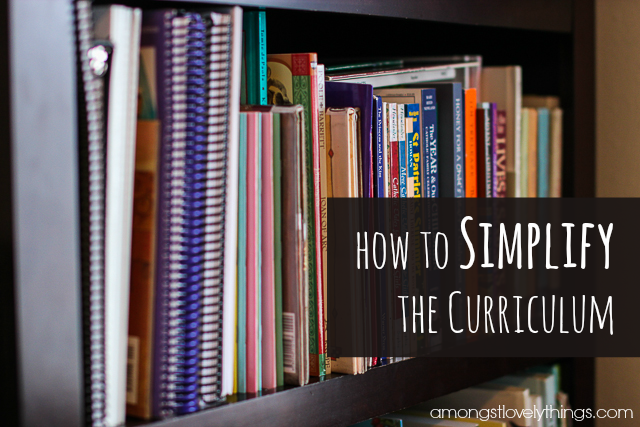 How to Simplify the Curriculum