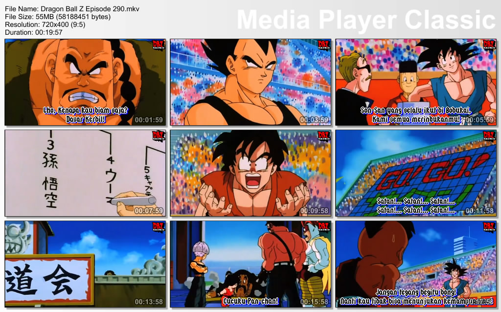 Film / Anime Dragon Ball Z Majin Buu Saga Episode 290 Bahasa Indonesia