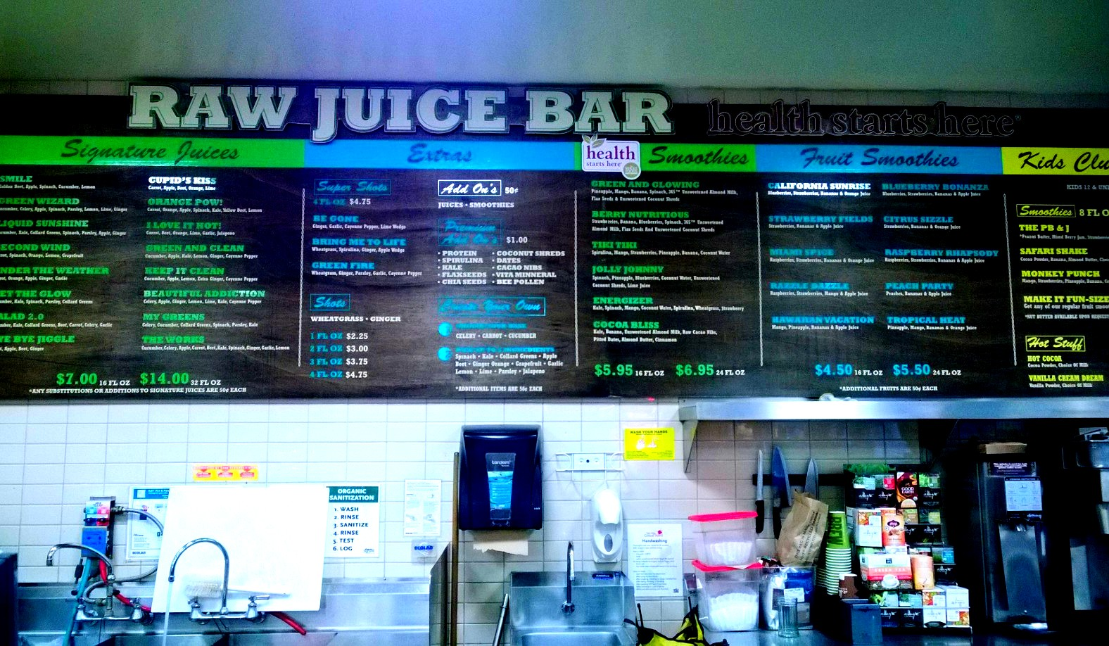 This week in pictures sept 2 sept 8 2013 growing up hui for Whole food juice bar menu